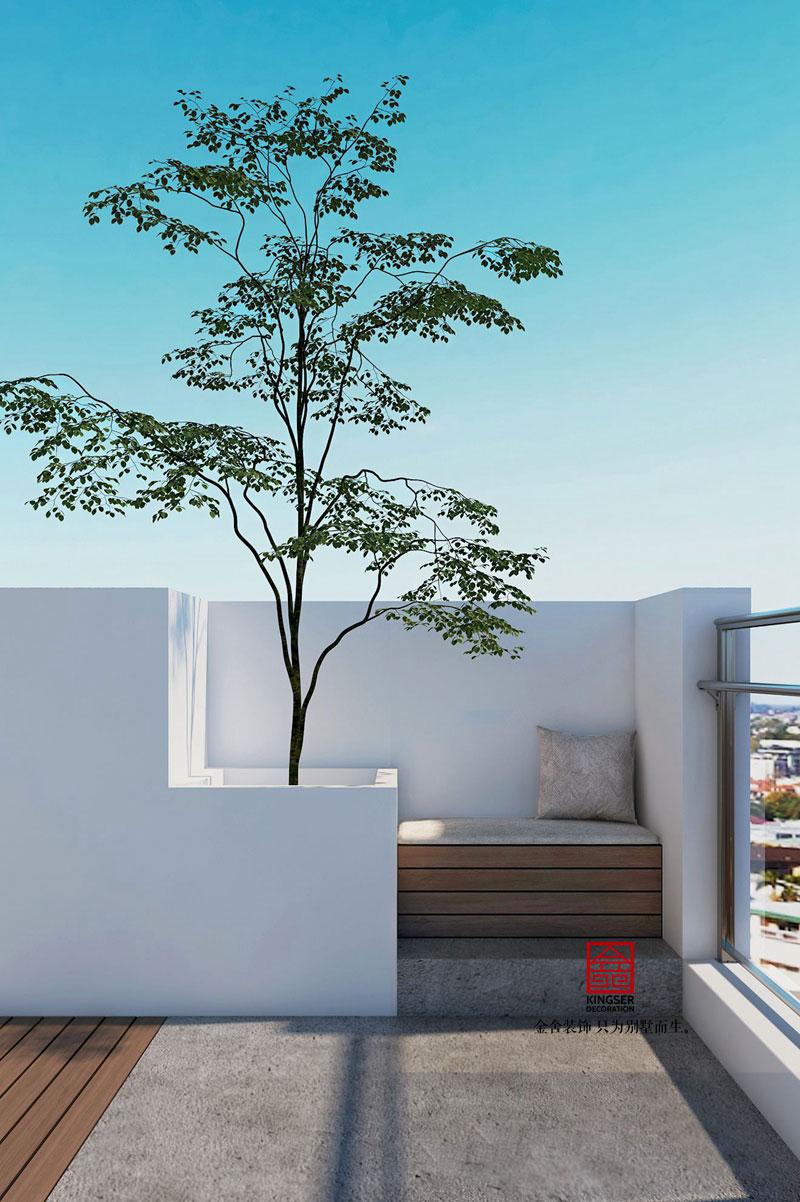 东南智汇城-现代风格-花园效果图