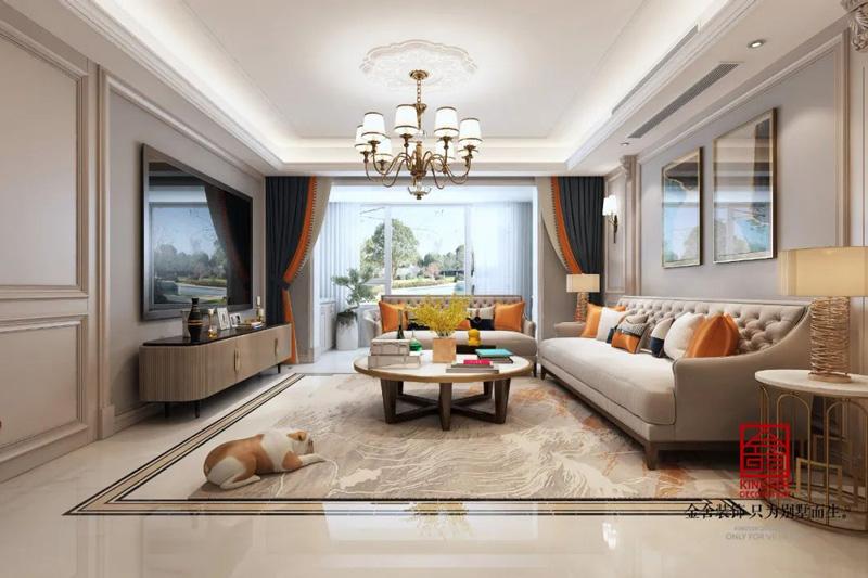 东南智汇城190㎡现代轻奢风格装修效果图