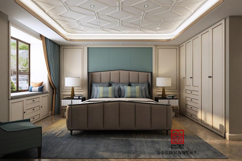 榮盛華府裝修-美式風格-臥室