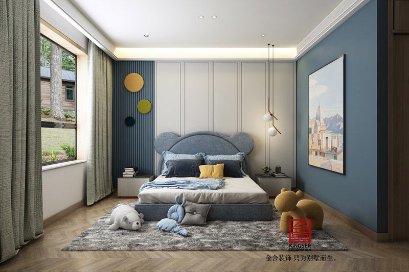 榮盛華府205平米裝修設計-現代風格-兒童房
