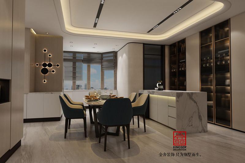 榮盛華府205平米裝修設計-現代風格-餐廳