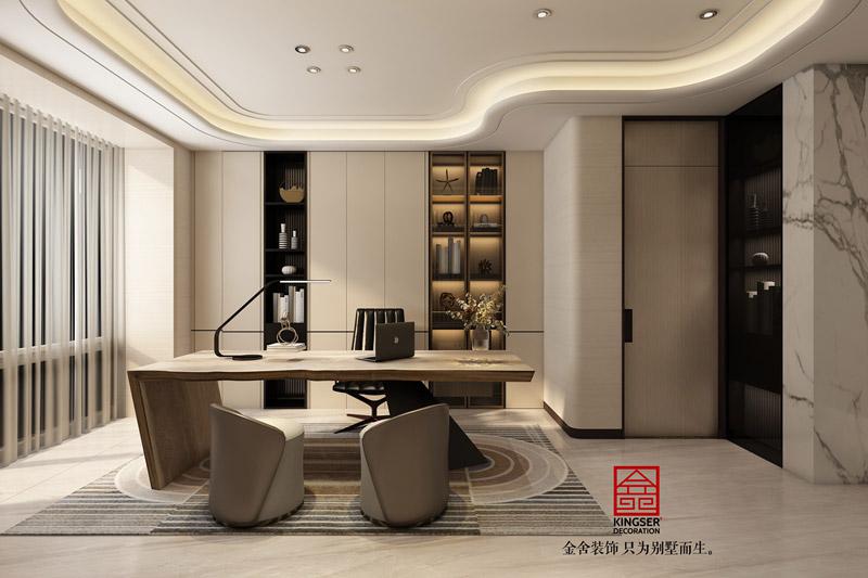 榮盛華府205平米裝修設計-現代風格-工作室