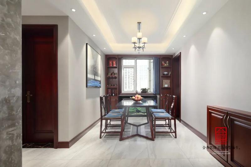 保利拉菲150㎡新中式風格餐廳設計實景圖