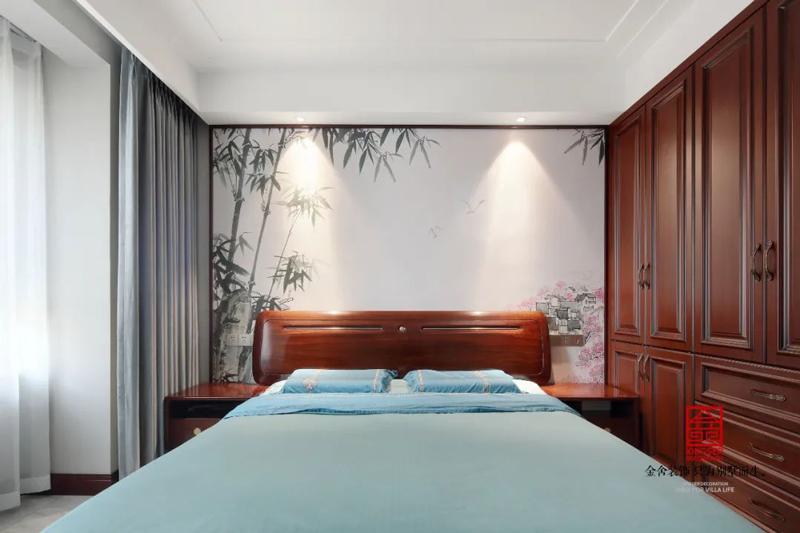 保利拉菲150㎡新中式風格臥室設計實景圖