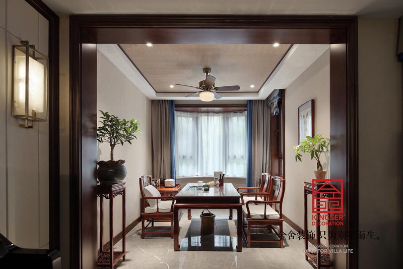 國賓壹號210㎡新中式風格裝修餐廳設計實景圖