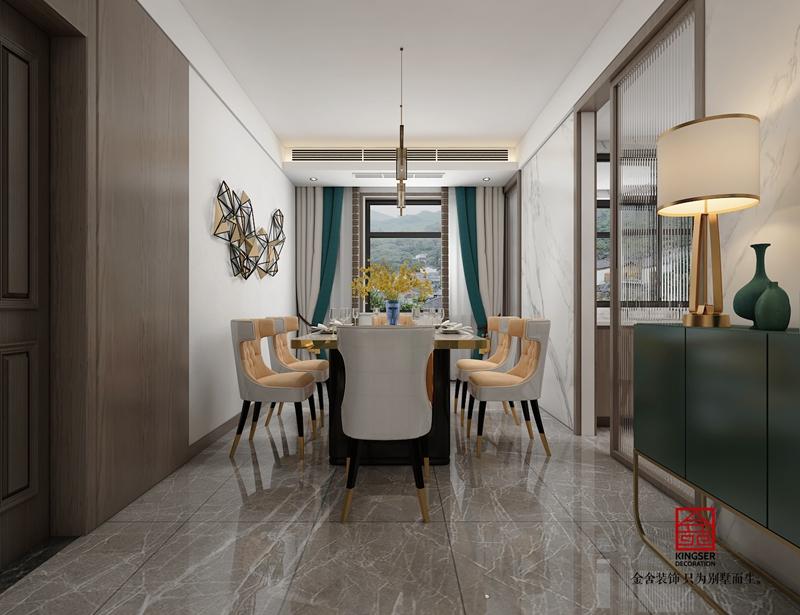 融创中心217平轻奢风格餐厅设计案例效果图
