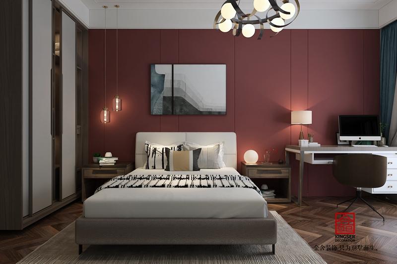 融创中心217平轻奢风格卧室设计案例效果图