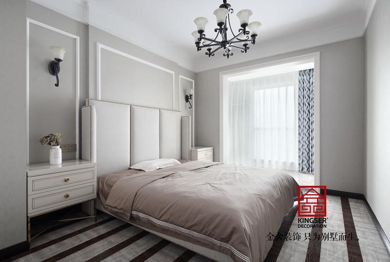 德贤公馆160㎡轻奢风格家装设计卧室实景图