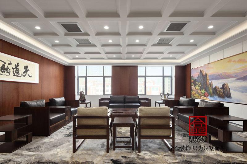 五合地产公司装修2000平米中式风格实景图  