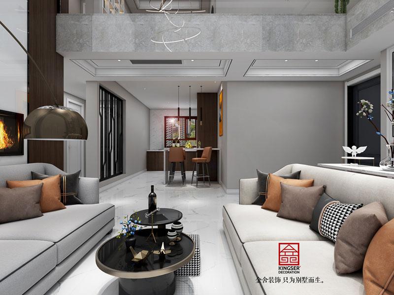 塞纳城邦180平米简约风格客厅设计效果图