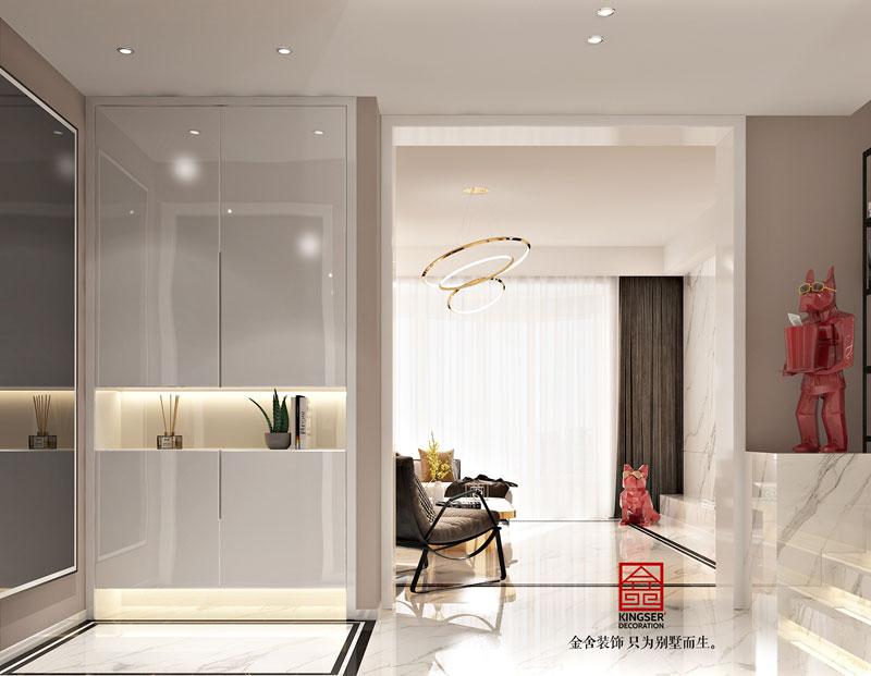 丽景琴园152平米简约风格客厅设计效果图