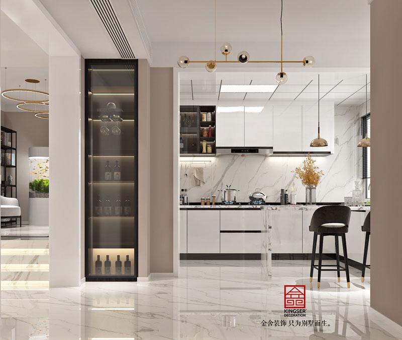 丽景琴园152平米简约风格餐厅设计效果图