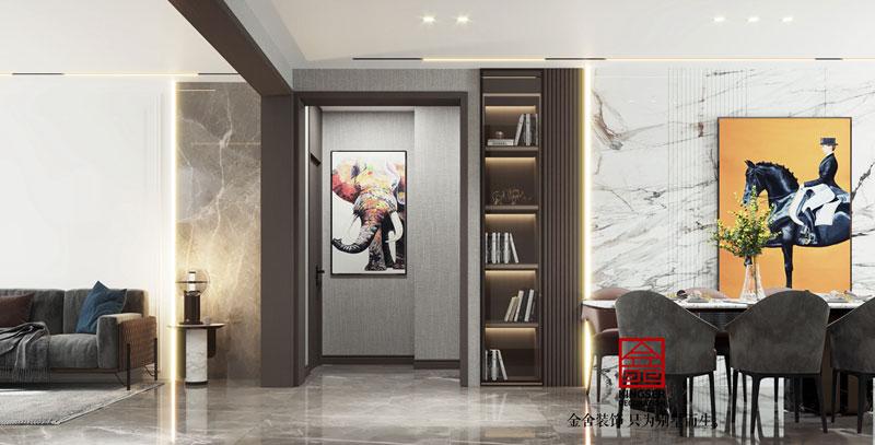 华彩唐人街134平米简约风格客厅设计效果图