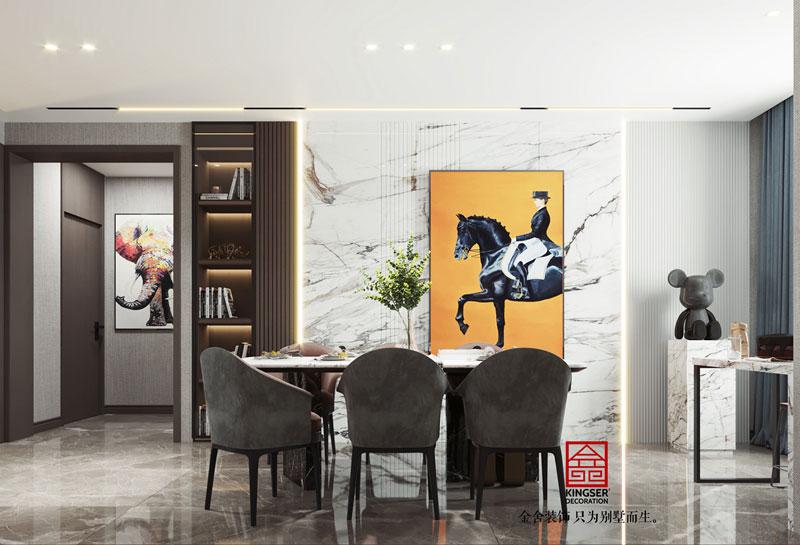 华彩唐人街134平米简约风格餐厅设计效果图