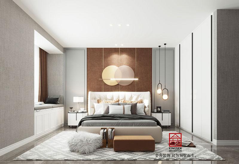 华彩唐人街134平米简约风格卧室设计效果图