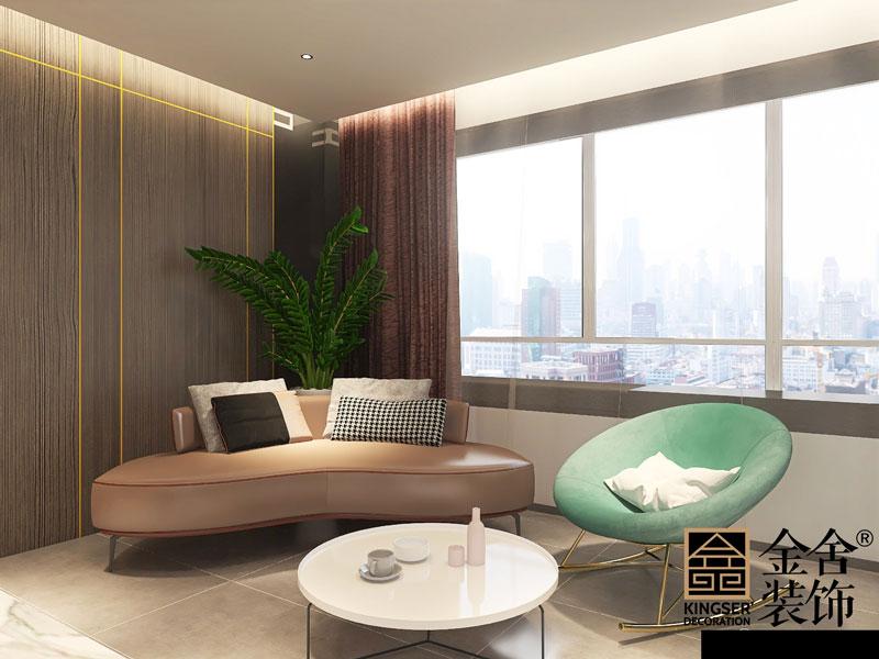 天成嶺秀126平米現代簡約裝修客廳設計效果圖
