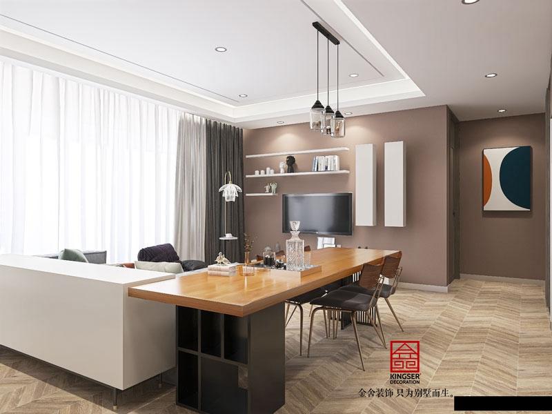 天成嶺秀126平米裝修現代簡約風格客廳效果圖