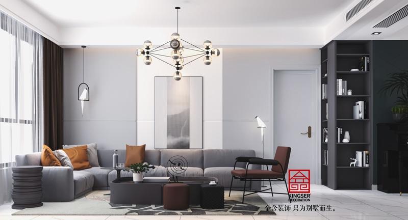 天成明月洲139平米現代簡約風格客廳設計效果圖