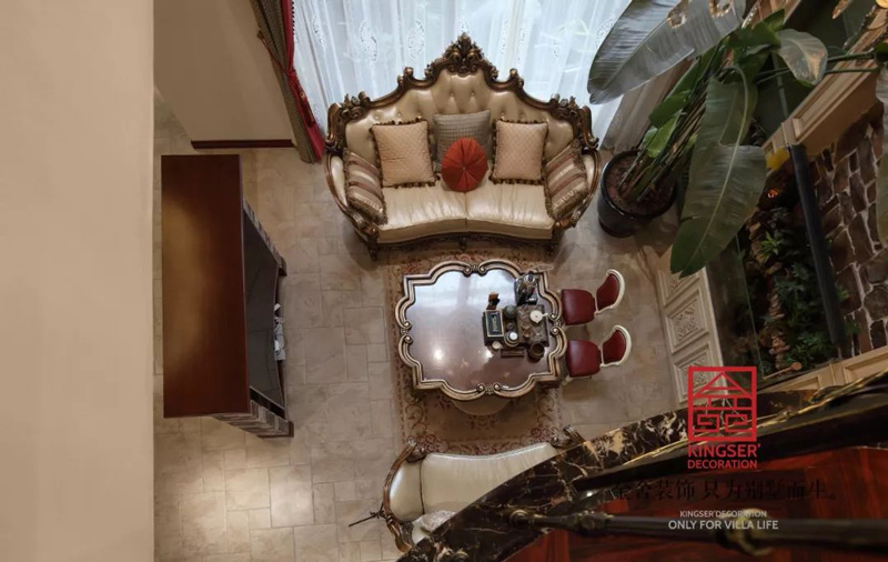 國賓壹號280㎡美式裝修客廳實景圖