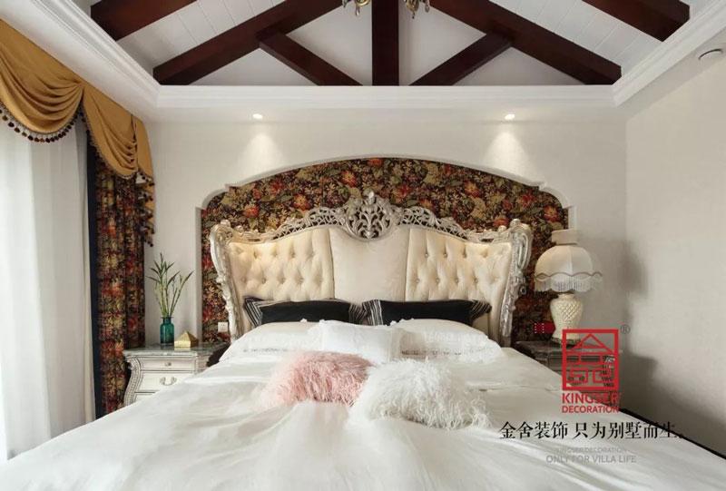 國賓壹號280㎡美式裝修臥室實景圖