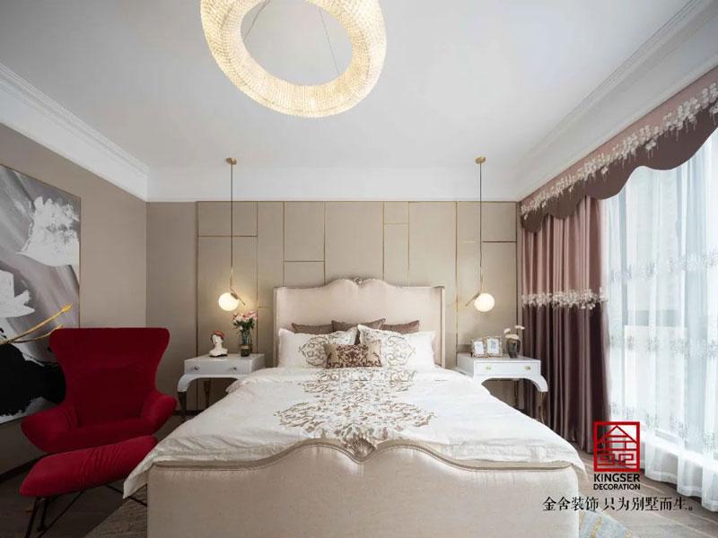 林荫大院260㎡港式轻奢风格卧室装修实景案例