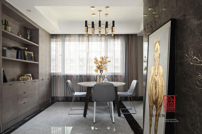 国富华庭180平米港式风格装修餐厅设计实景图