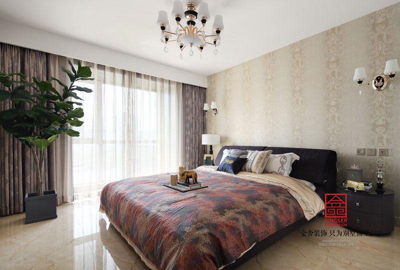 国富华庭180平米港式风格装修卧室设计实景图