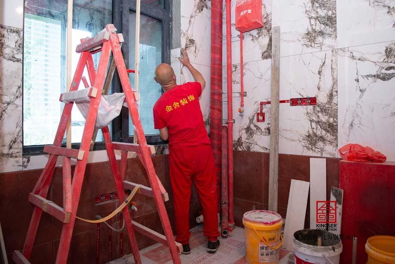 融创中心装修工地瓦工阶段