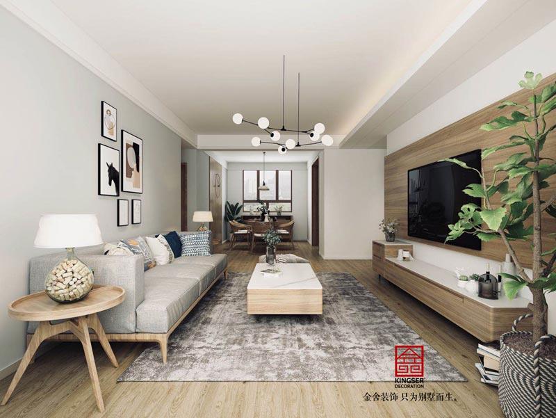 東南智匯城135平米裝修設計案例