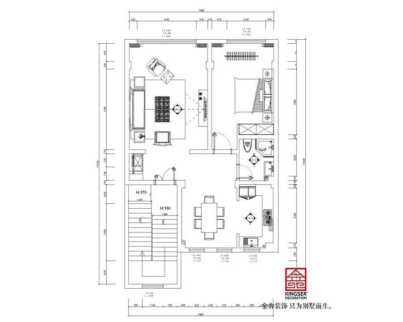 安国市数字中药都300平别墅装修户型设计方案