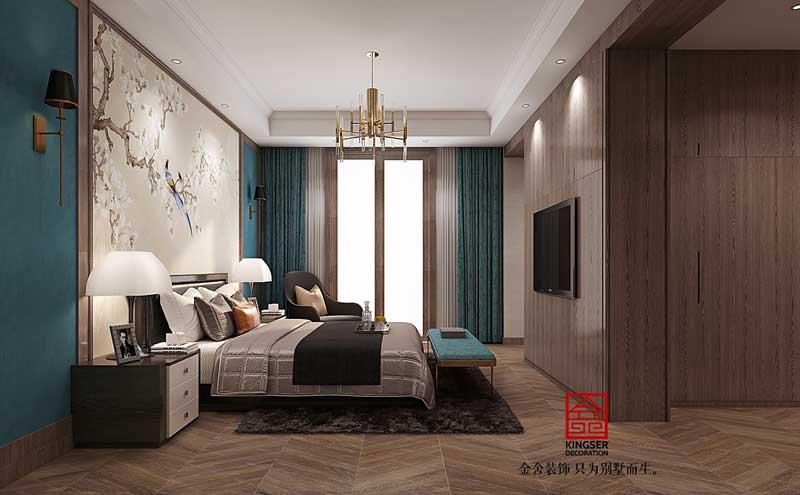 大者三期别墅装修290平轻奢风格设计方案