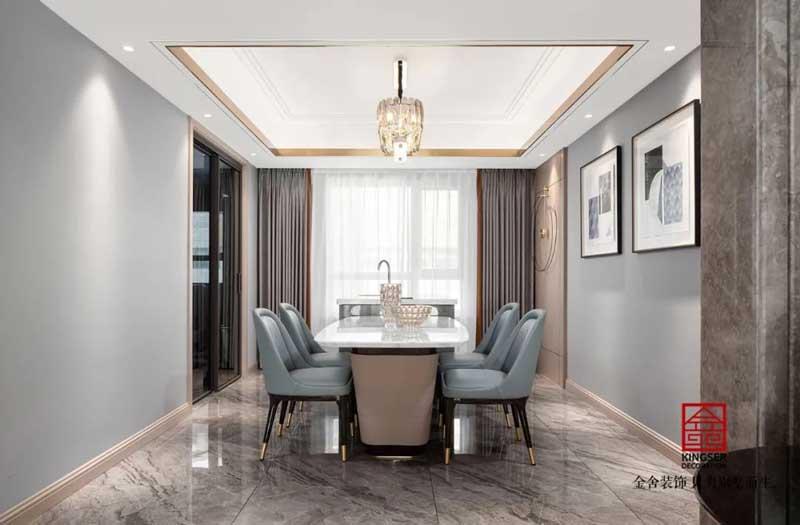 东南智汇城装修设计191㎡轻奢风格实景图
