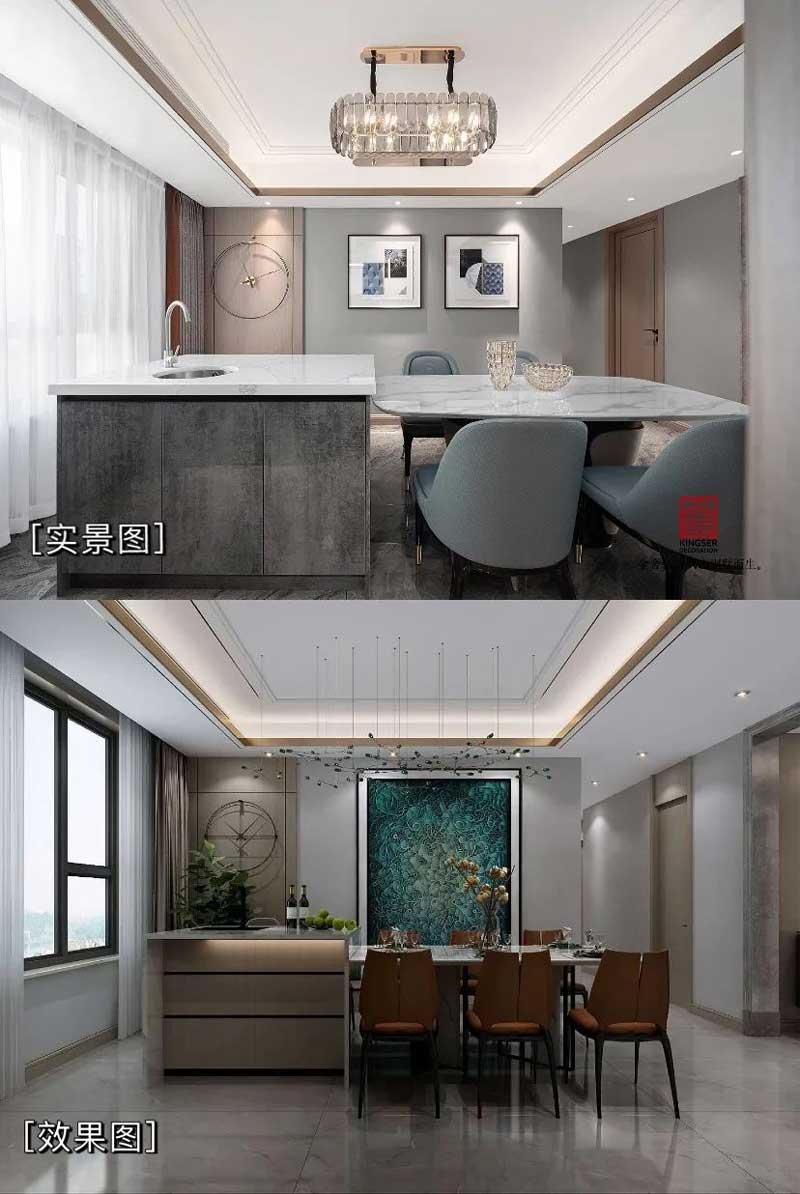 东南智汇城装修设计效果图实景图对比