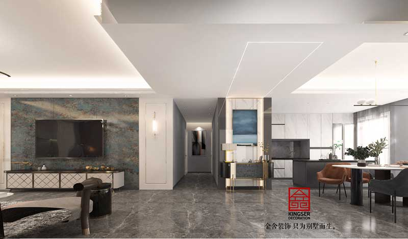 融創中心217平輕奢風格設計方案