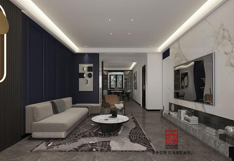 融创中心155平装修设计轻奢风格效果图