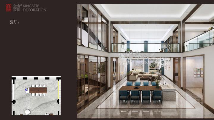 深泽自建别墅装修设计-中式风格-效果图