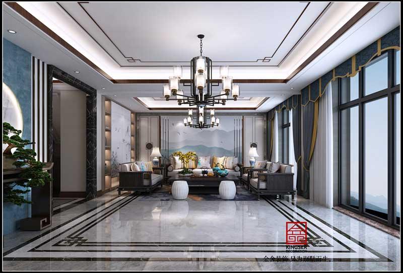 大者別墅裝修-280平米-現代風格效果圖