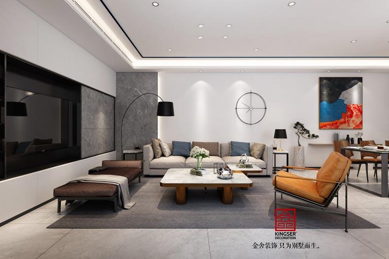 龙湖天宸原著-200㎡-现代简约风格-效果图