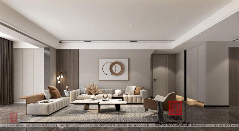 融创中心214㎡三房二厅简约风格装修设计