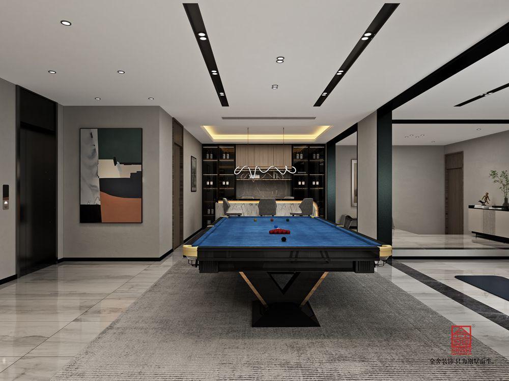 開元府398平米新中式風格裝修-休息室
