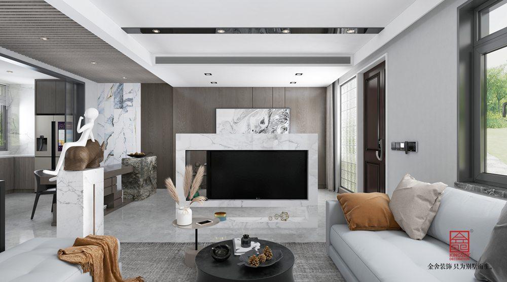 中央云著246平米裝修-現代簡約-客廳