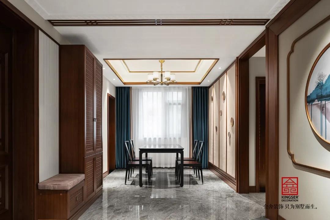 保利拉菲公館158平米中式風格裝修-餐廳