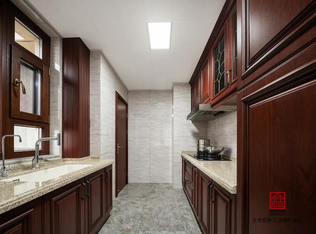 保利拉菲公館158平米中式風格裝修-廚房