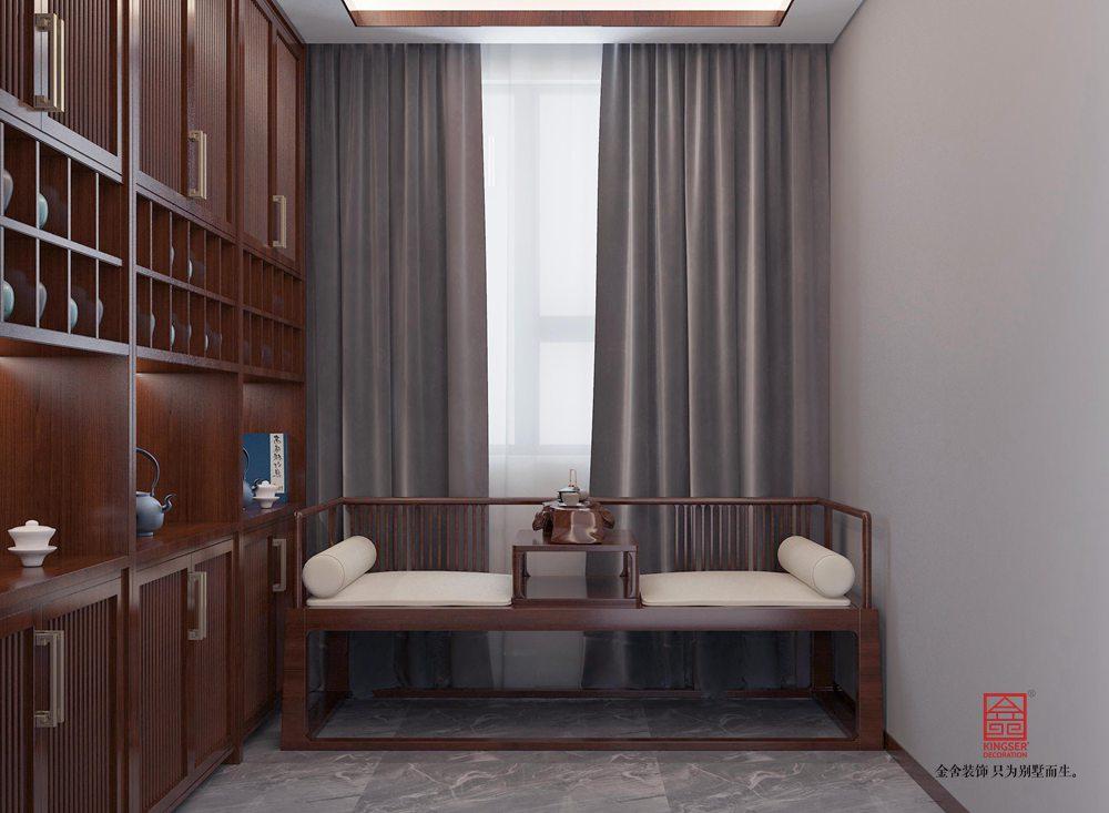 陽光國際190平米裝修-新中式風格-書房