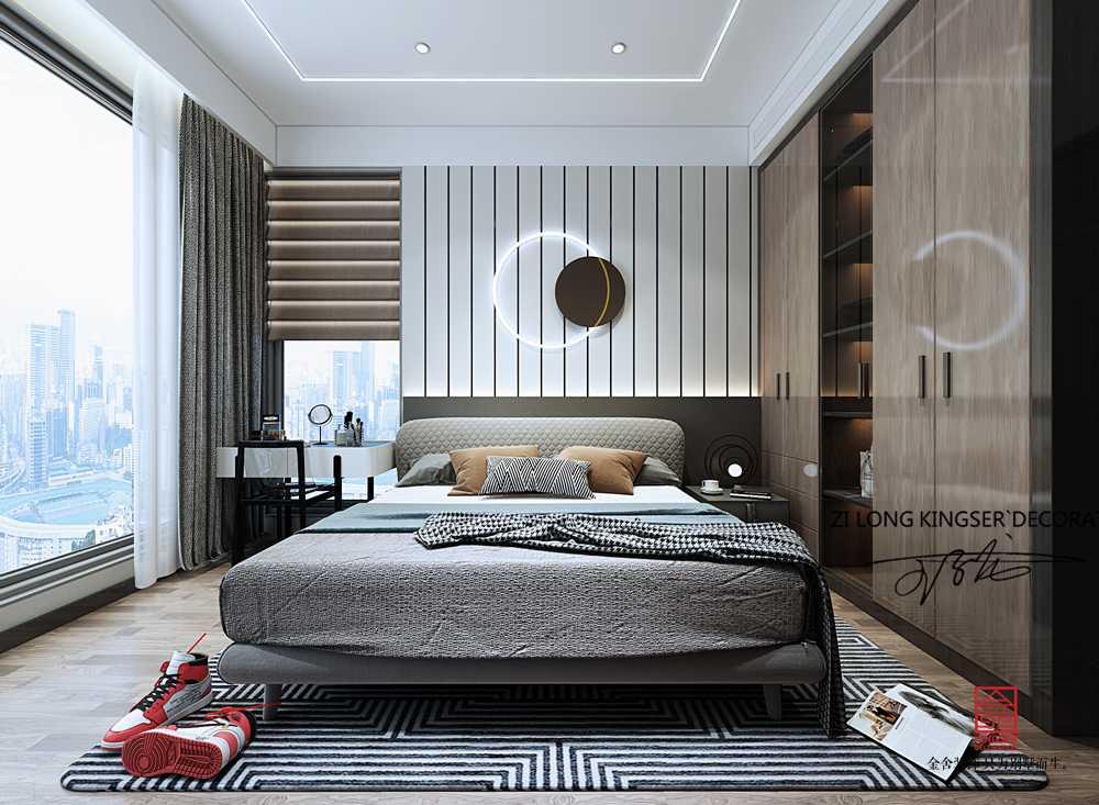 漢王府230平米現代簡約裝修-臥室