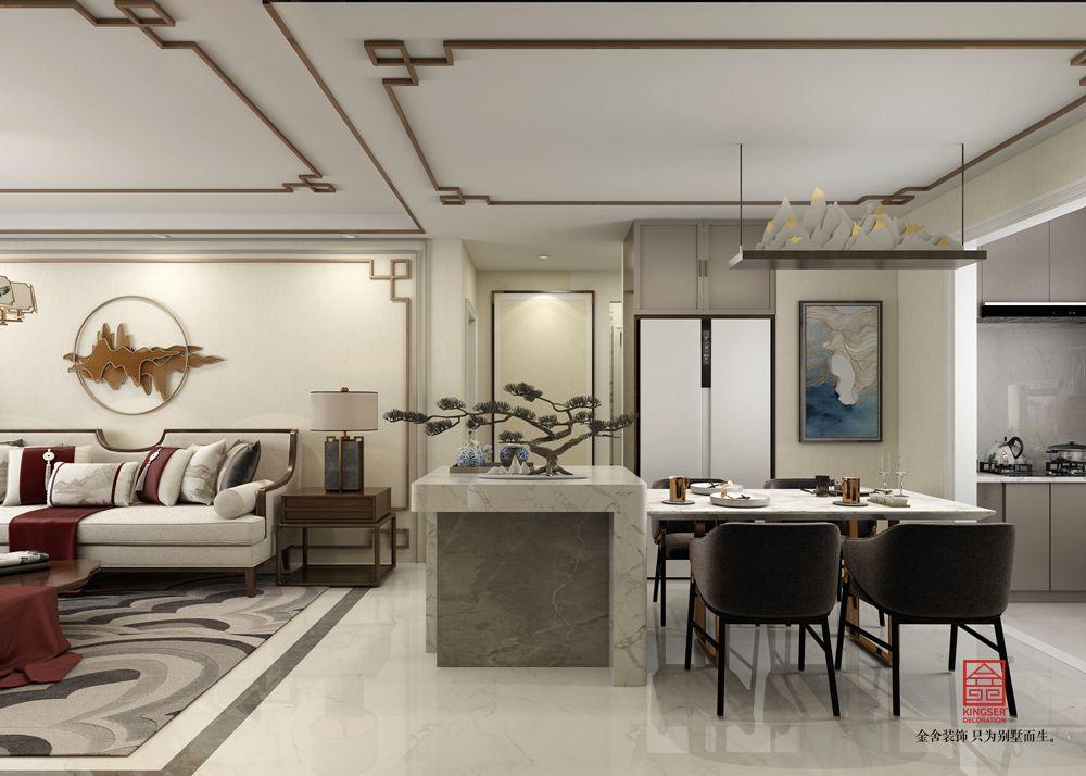 國宅150平米新中式風格裝修-餐廳
