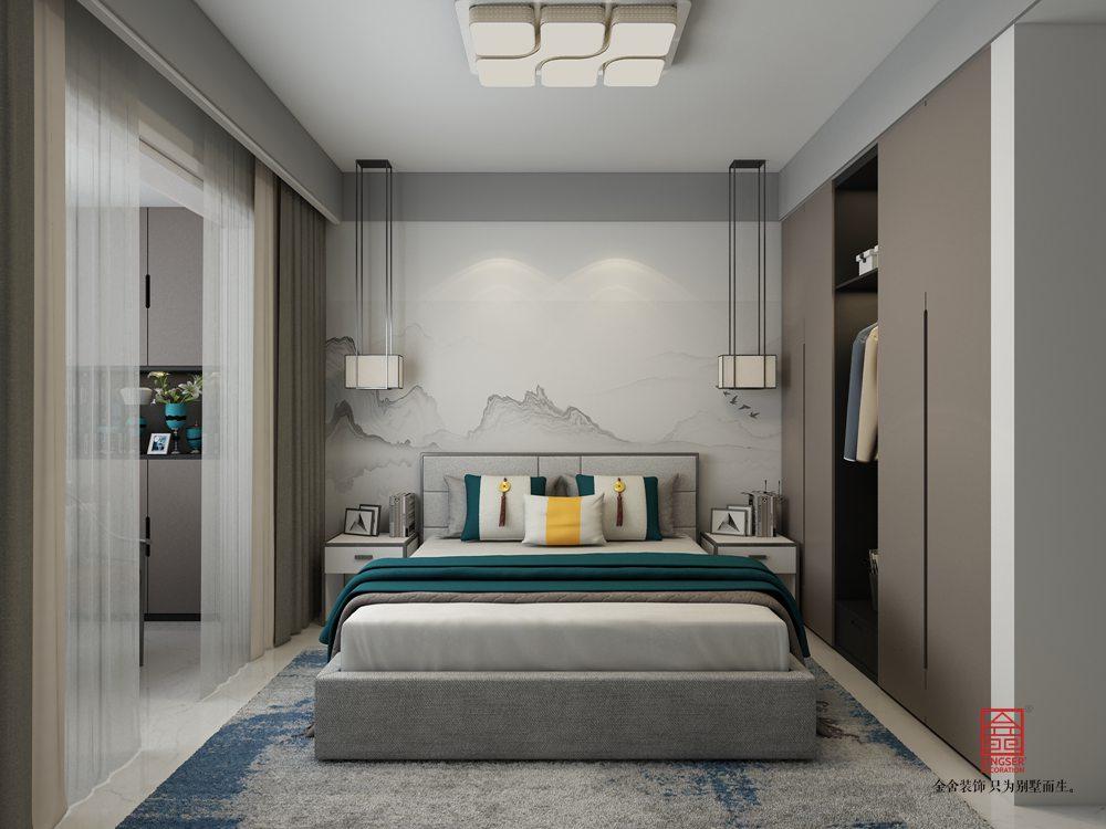 國宅150平米新中式風格裝修-臥室