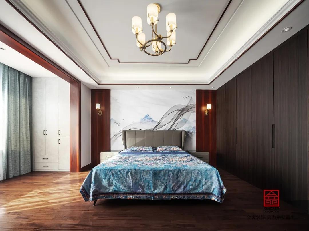 大者別墅300平米新中式風格裝修-臥室