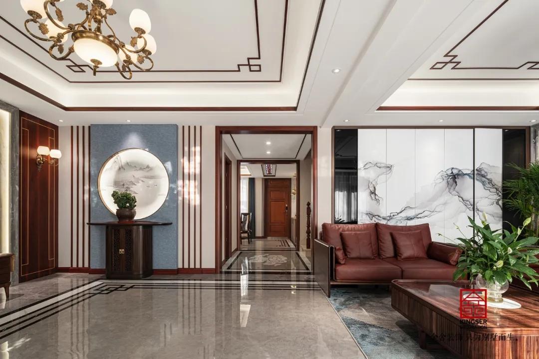 大者別墅300平米新中式風格裝修-玄關
