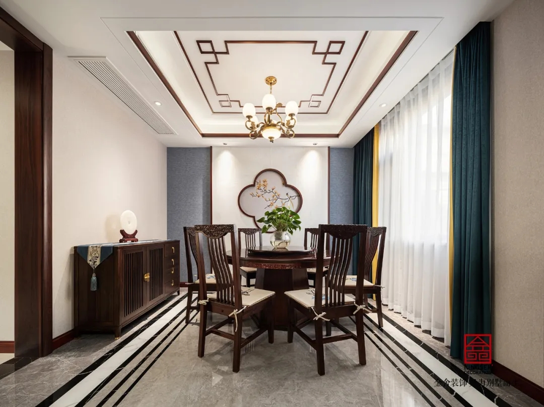 大者別墅300平米新中式風格裝修-餐廳
